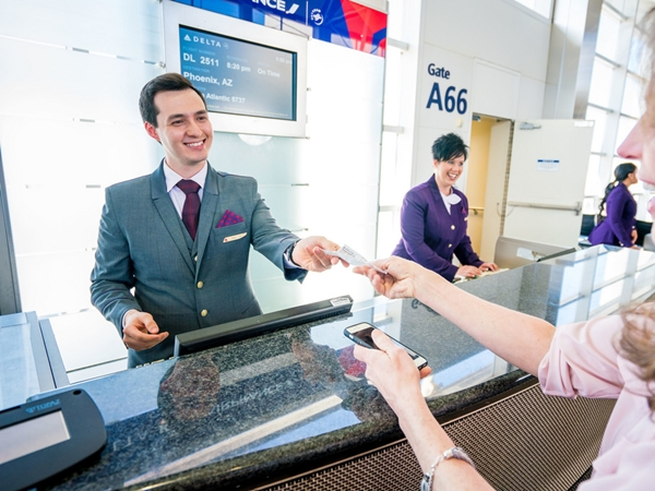 airport ticketing + customer service